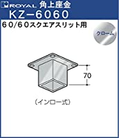 角上座金 □6060用 【ロイヤル】 MZ-□6060CR スクエアスリット用□6060 クローム