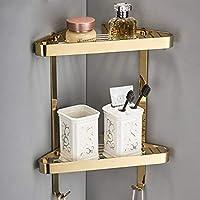 浴室用棚2段銅シャワー棚付きフック壁掛けコーナー収納棚付きホームホテル