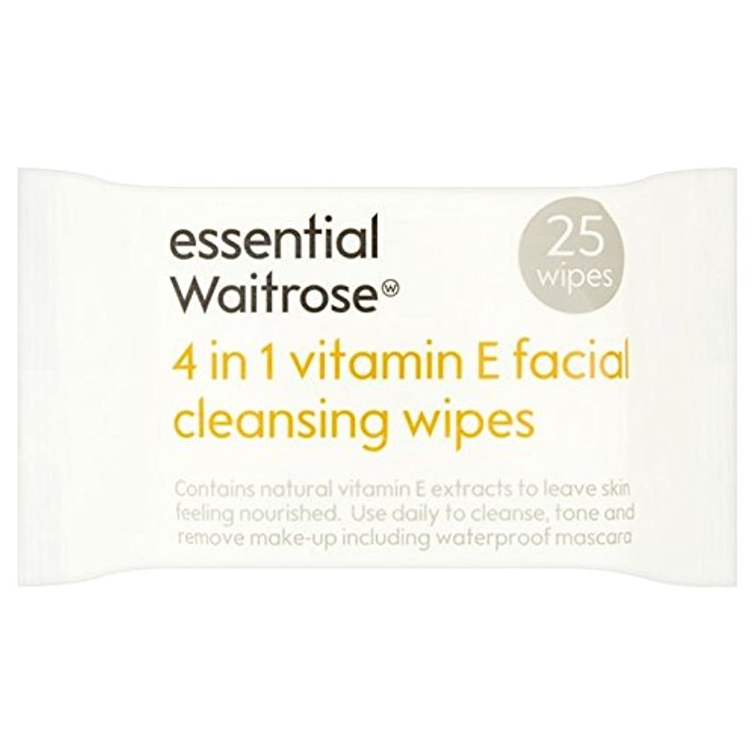 急性回るセールEssential 4 in 1 Cleansing Wipes Vitamin E Waitrose 25 per pack - 1つのクレンジングで4不可欠パックあたりのビタミンウェイトローズ25ワイプ [並行輸入品]