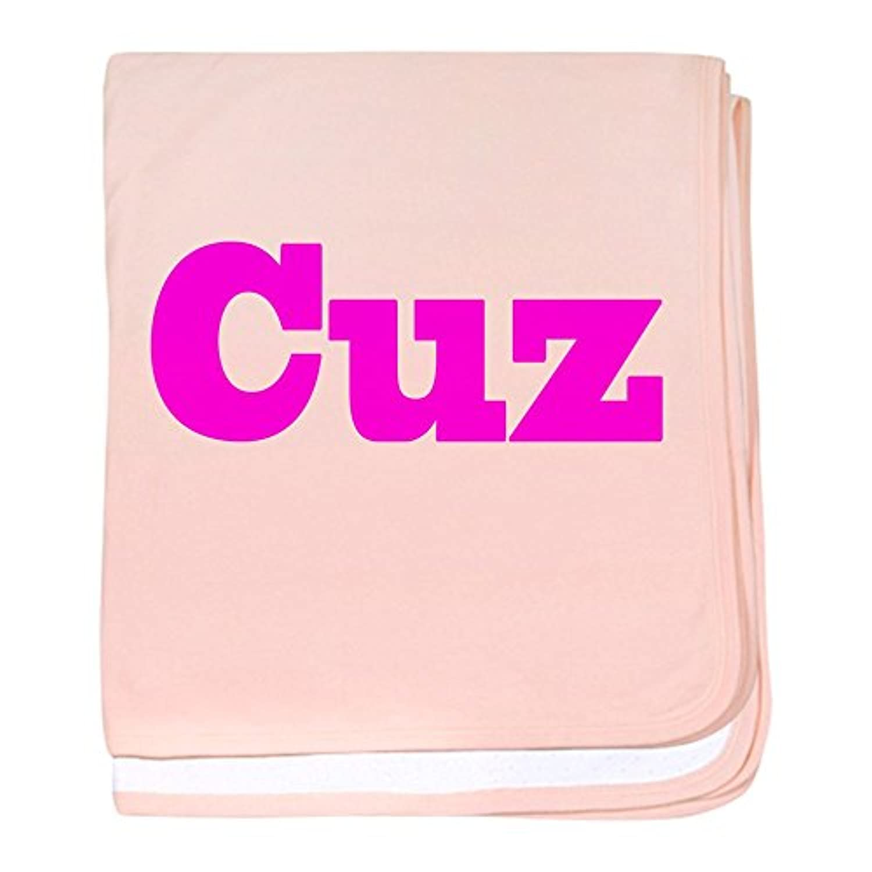 CafePress – ピンクCuz – スーパーソフトベビー毛布、新生児おくるみ ピンク 05501222366832E