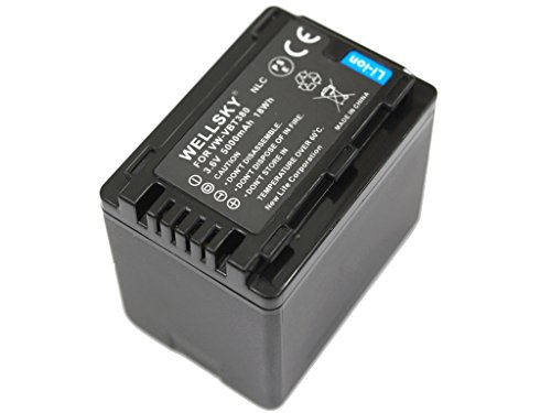 [WELLSKY] Panasonic パナソニック VW-VBT380-K 互換バッテリー [ 純正充電器で充電可能 残量表示可能 純正品と同じよう使用可能 ] HC-V210M / HC-V230M / HC-V360M / HC-V480M / HC-V520M / HC-V550M / HC-V620M / HC-V720M / HC-V750M / HC-VX980M / HC-W570M / HC-W580M / HC-W850M / HC-W870M / HC-WX970M / HC-WX990M / HC-WXF990M / HC-WX995M / HC-VX985M