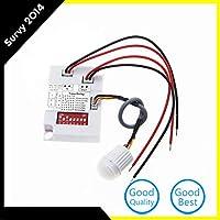 プラスチックインテリジェントライトボディセンサーIRモジュールモーションセンシングスイッチDC 8-30V