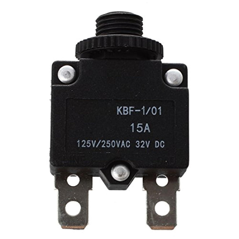 格差扇動敬意を表するACAMPTAR ACAMPTAR(R) AC125/250V 15Aプッシュリセットボタンサーキットブレーカ過負荷保護