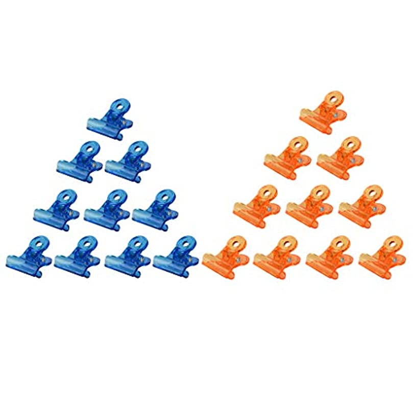 がんばり続ける組み込むペインCUTICATE ネイルクリップ ネイルアート ジェルネイルポリッシュ クリーナー ネイルツール ネイルクリップ 全3種 - オレンジ+ブルー