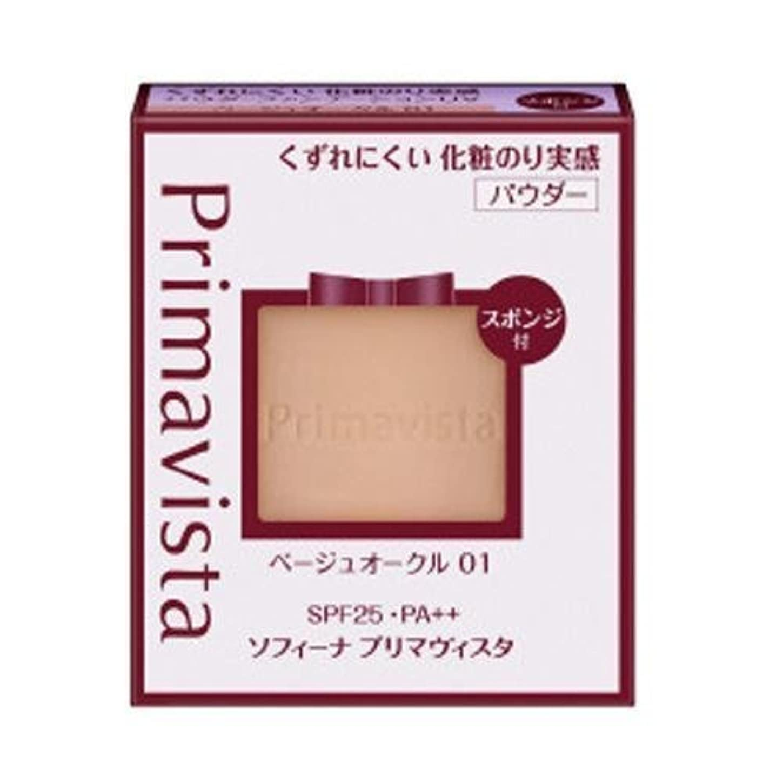 申込み敏感なマンモスソフィーナ プリマヴィスタ くずれにくい 化粧のり実感パウダーファンデーションUV ベージュオークル01 レフィル