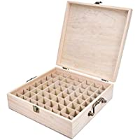 TOOGOO 62 Slot Wooden Essential Oil Storage Box Solid Wood Case Holder Large Capacity Aromatherapy Essential Oil Bottle Organizer