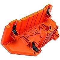 SODIAL 多機能マイターソーボックスキャビネット0 / 22.5/45/90度目ガイド木工 - オレンジ、14インチクランプ付き