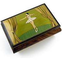 美しいバレリーナon Stage Hand Inlaid Sorrento Top品質音楽ボックス 397. Trout. The - SWISS (+$25) MBA62BALLERINA