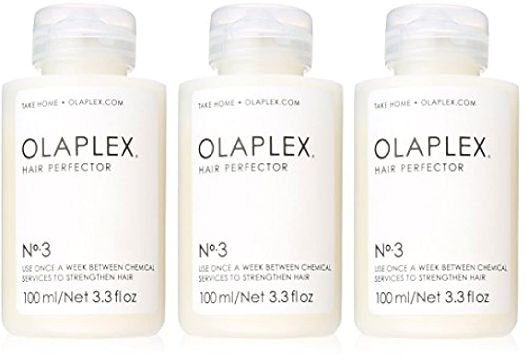 愛俳優貸し手Olaplex Hair Perfector No 3 Repairing Treatment 3Pack (3.3 OZ)