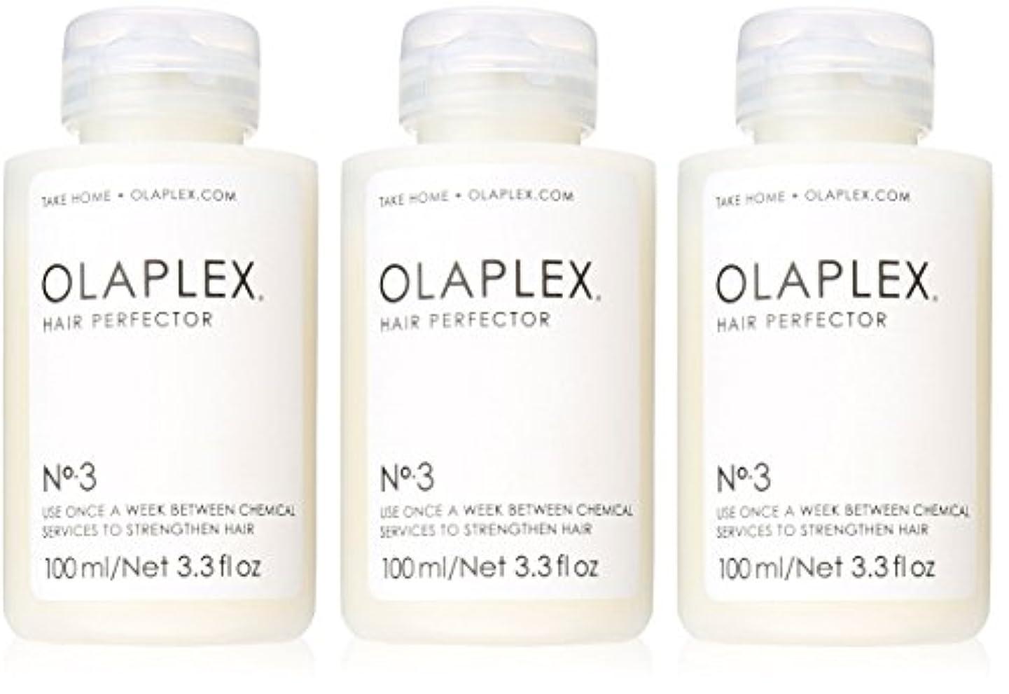 バズ付録スパンOlaplex Hair Perfector No 3 Repairing Treatment 3Pack (3.3 OZ)