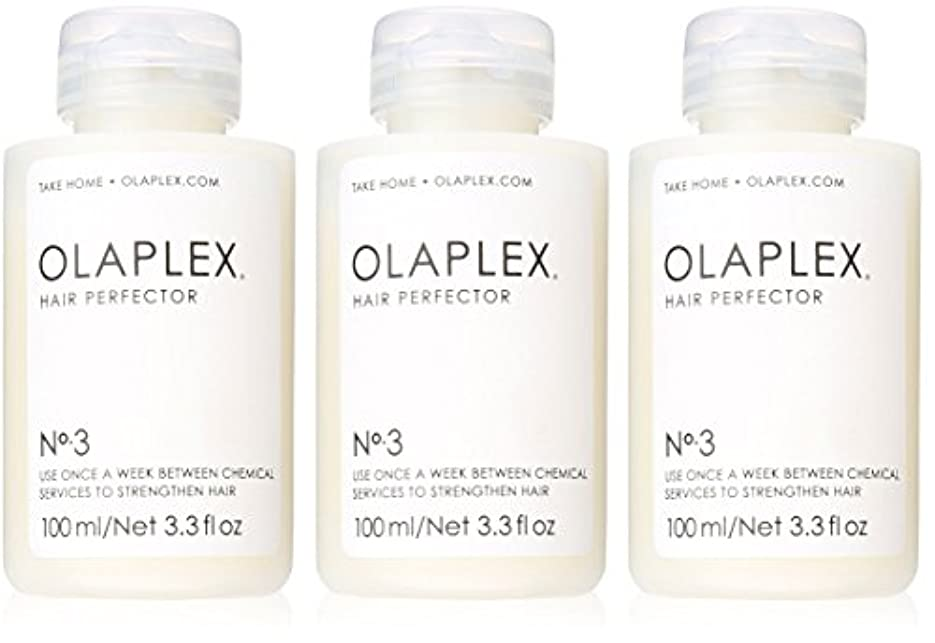 ずんぐりした形いつかOlaplex Hair Perfector No 3 Repairing Treatment 3Pack (3.3 OZ)