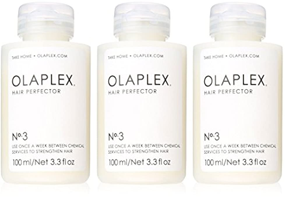 大騒ぎ米ドル靴Olaplex Hair Perfector No 3 Repairing Treatment 3Pack (3.3 OZ)