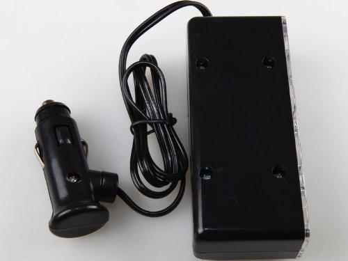 【これは便利♪】 簡単増設! 3連シガーソケット分配器 + USBポート搭載(ブラック)[平行輸入品]