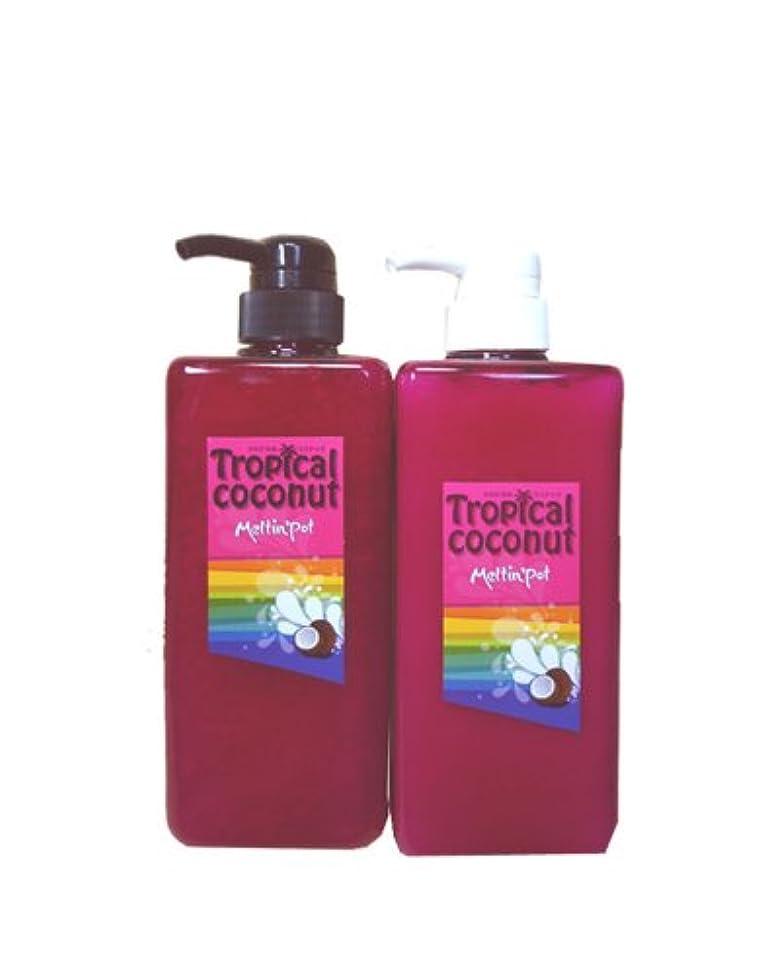 泥だらけ接尾辞環境に優しいトロピカルココナッツ シャンプー&トリートメント 600ml*2  Tropical coconut shampoo&treatment