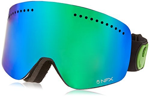 Dragon Alliance NFX Ski Goggles, Jet/Green Ion + Yellow Blue Ion