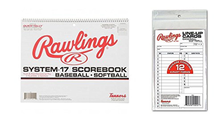 Rawlingsシステム17野球/ソフトボールScorebook and system-17 line-upカード( 12カード)