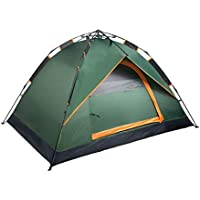 キャンプテント自動ポップアップ軽量ドームテント厚み防雨3-4人家族テント屋外テント