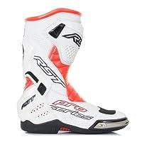 RST PROシリーズ1503RaceスポーツCE Motorcycle Boots–Floレッド/ホワイト/ブラック EU 45 115034145