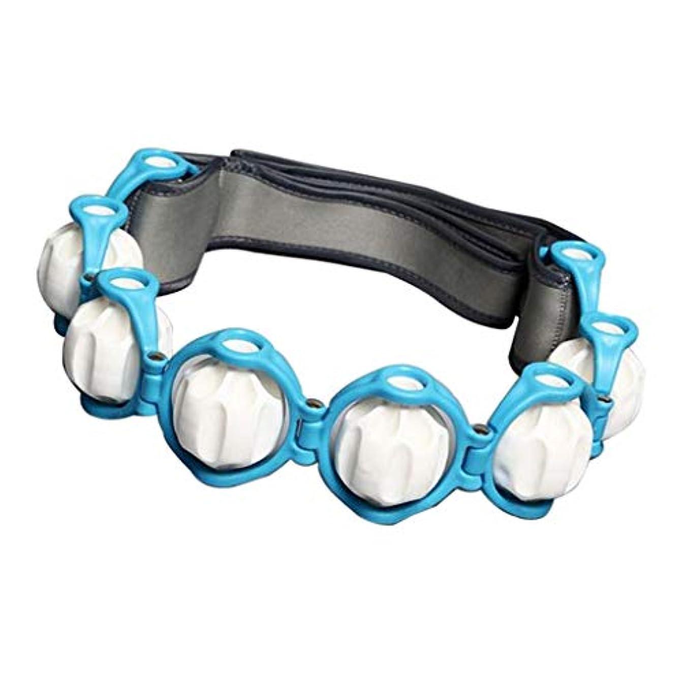 イヤホンローマ人展開するSharplace ボディマッサージローラーロープ 4色 - 青, 説明したように