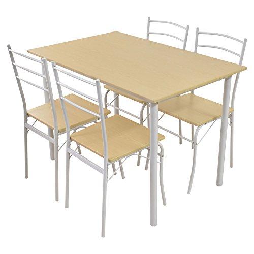 (DORIS) ダイニングテーブル 5点セット 【モーリス ナチュラル】 テーブル&チェア(5点セット) 4人掛け 幅:110cm 組み立て式