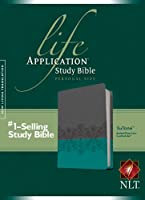 Life Application Study Bible: New Living Translation, Juniper / Gray Lace TuTone, Leatherlike, Personal Size Edition