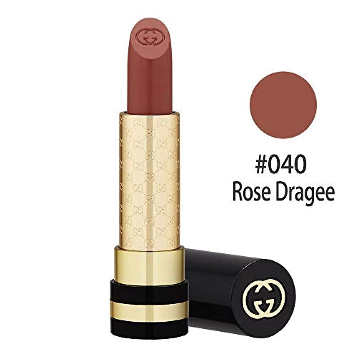 委任名前満たすGucci オーデイシャスカラーインテンスリップスティック #040 ROSE DRAGEE 3.5g [839615] [並行輸入品]