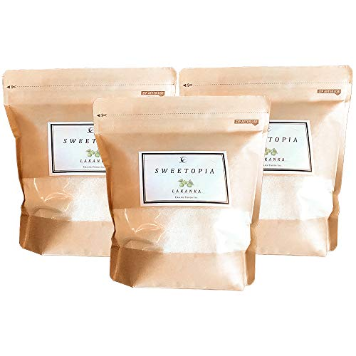 CraneFoods ( クレインフーズ ) スイートピア ラカンカ [ 100%天然由来 カロリーゼロ 糖類ゼロ ] 800g×3個 ( 砂糖と同じ甘さ ) 羅漢果 ラカンカエキス エリスリトール
