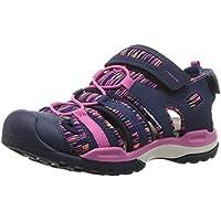 Geox Girls' Borealis 8 Sandal Navy/Fuchsia 27 M EU Little Kid (10 US)