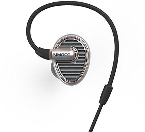 SIMGOT EN700耳のイヤホンで HIFI ウォームなサウンド (シルバー(銀))