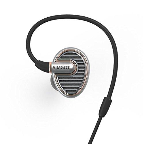 SIMGOT EN700 耳のイヤホンで HIFI ウォームなサウンド (シルバー(銀))