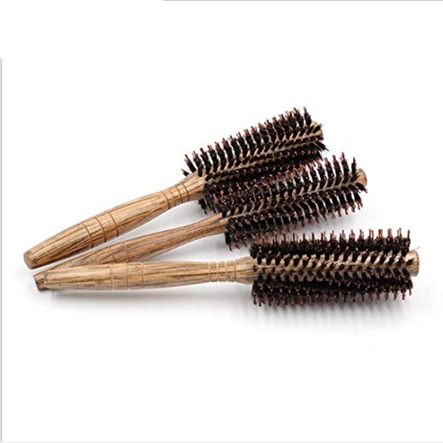 ニコチン特定の四半期女性のためのヘアブラシ大きい花のComb24cmの長さ - ヘアブラシの女性のカーリー&木製ハンドル付きストレートヘアの櫛 - スタイル、カール、そして乾いた髪にブロー乾燥しながら使用 モデリングツール (サイズ : S)