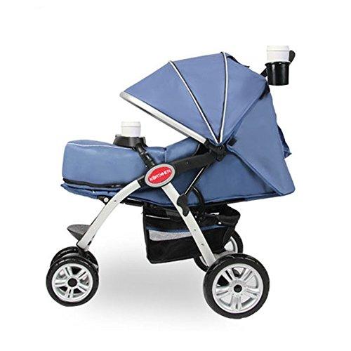 [Kortchen] Baby Stroller  3輪 ベビーカー 高速配信  (海外直送品) (Blue)