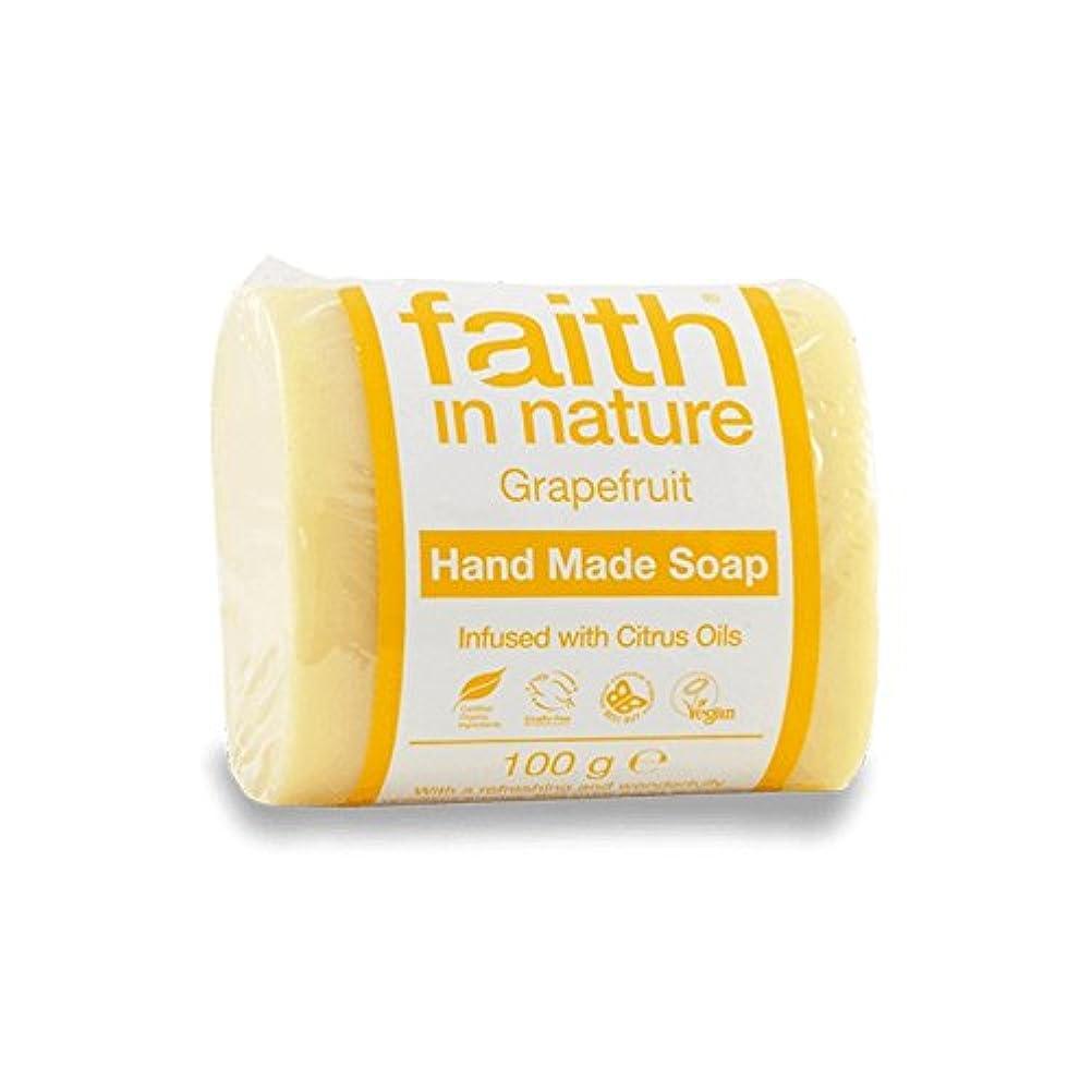 子供時代パドルありそうFaith in Nature Grapefruit Soap 100g (Pack of 6) - 自然グレープフルーツ石鹸100グラムの信仰 (x6) [並行輸入品]