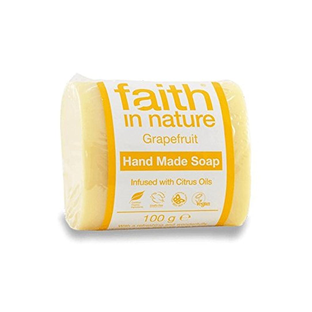充電重要な復活するFaith in Nature Grapefruit Soap 100g (Pack of 6) - 自然グレープフルーツ石鹸100グラムの信仰 (x6) [並行輸入品]
