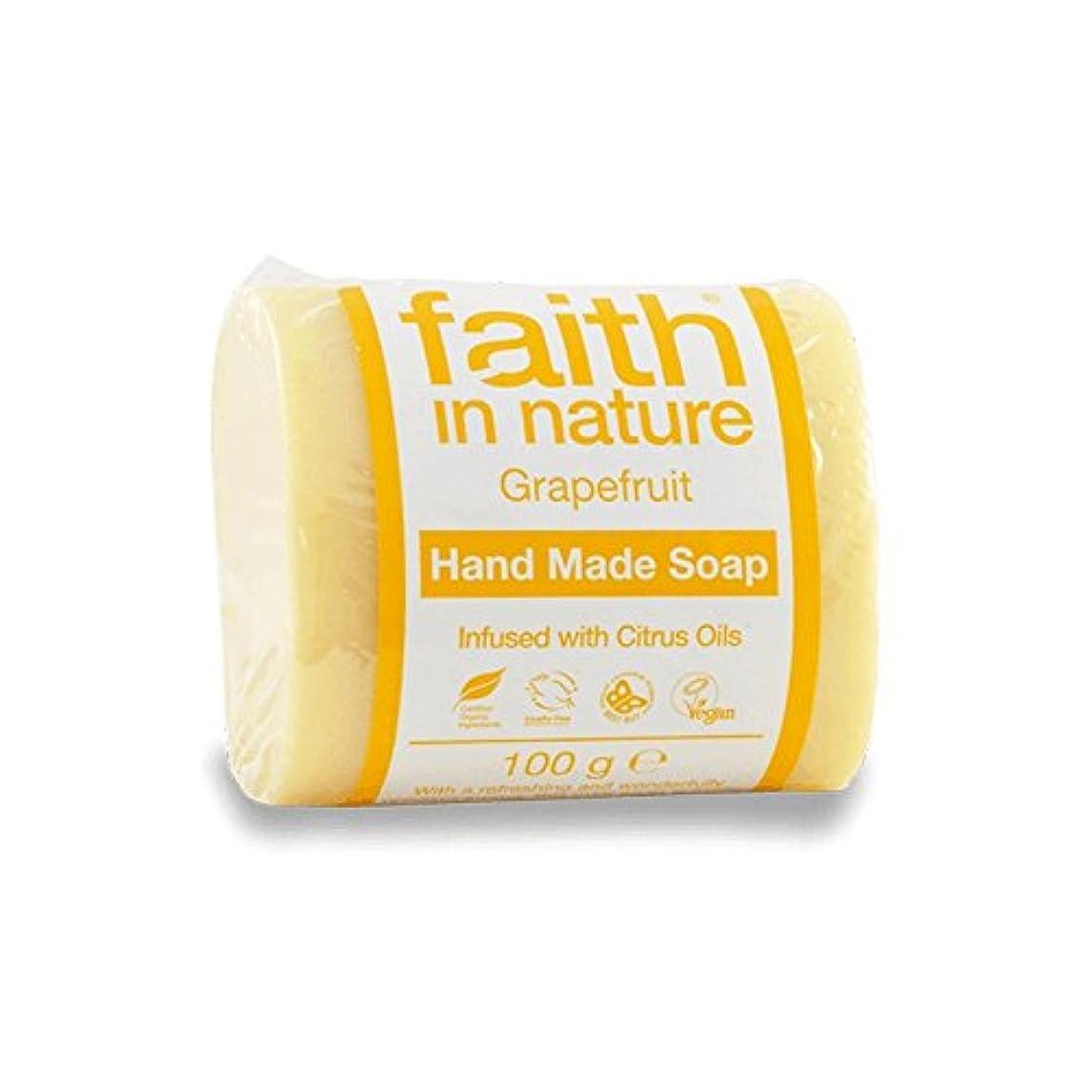 社員魔法くさびFaith in Nature Grapefruit Soap 100g (Pack of 6) - 自然グレープフルーツ石鹸100グラムの信仰 (x6) [並行輸入品]