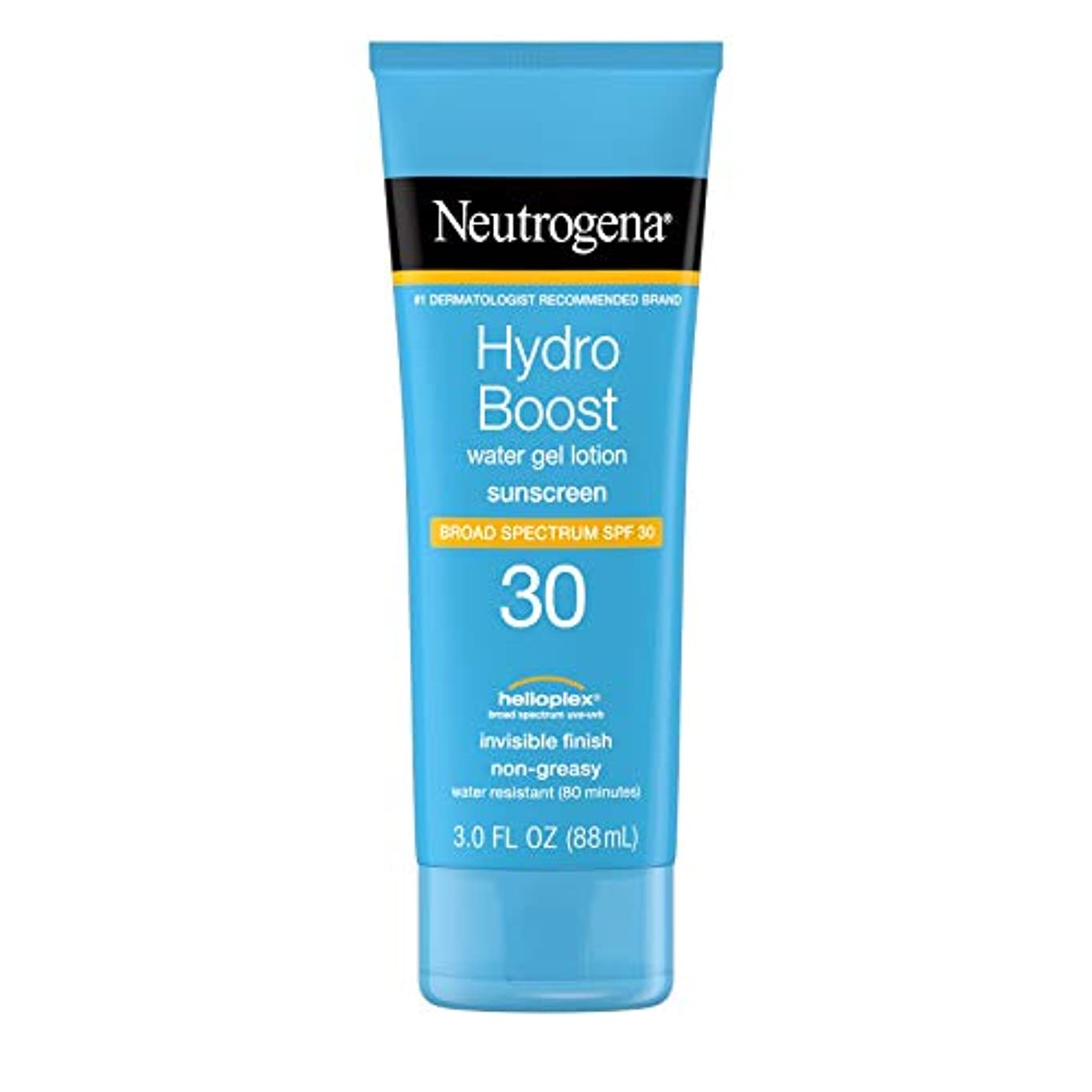 モザイク寂しい読書Neutrogena ハイドロは、広域スペクトルSPF 30、耐水性、3フロリダ水ゲルべたつかない保湿日焼け止めローションを後押し。オズ