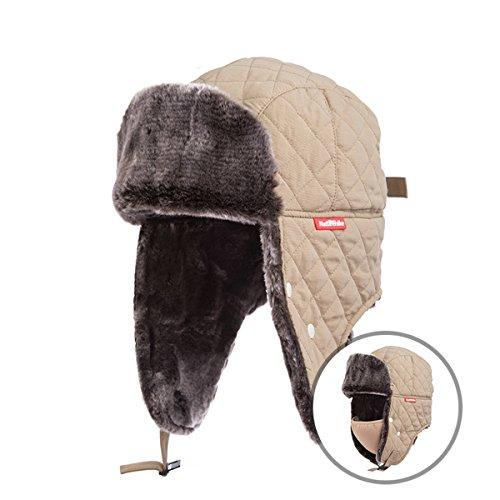 TRIWONDER 飛行帽 ロシア帽子 パイロットキャップ フェイスマスク 耳あて付 防寒帽子 トラッパーハット メンズ レディース 冬 スキー スノボ