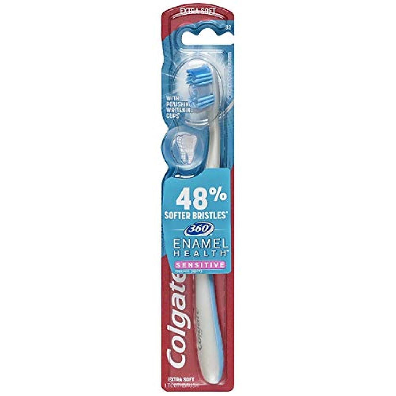 シダ出口トランジスタColgate 360エナメル健康に敏感なエクストラソフト歯ブラシ(2パック)