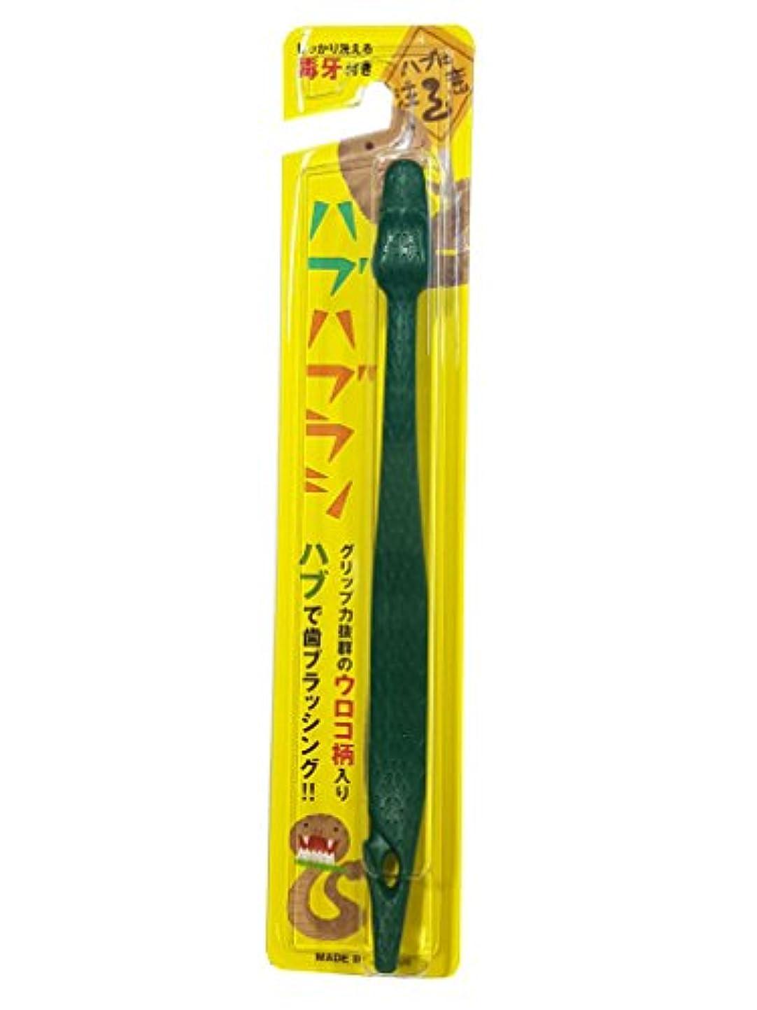 自分の力ですべてをするシャベル痛いハブハブラシ (緑 色) 沖縄 はぶ 歯ブラシ
