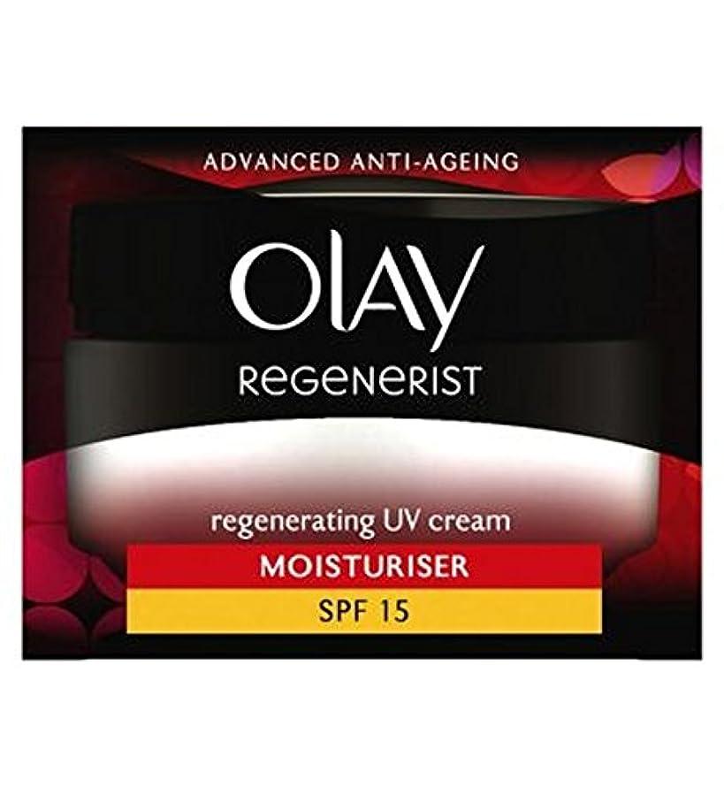 世論調査表面生産性オーレイリジェネ再生UvクリームSpf15の50ミリリットル (Olay) (x2) - Olay Regenerist Regenerating UV Cream SPF15 50ml (Pack of 2) [並行輸入品]