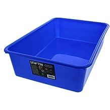 Cat Litter Tray Blue 44L x 31W x 11H Allows Easy Disposal Of Kitty Litter