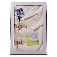 yuga☆【箱入り】ダッフル・ロンパース 80cm オーガニックコットン100% ベビー 服 男の子 女の子 兼用 出産祝い アウター コート プレゼント 綿100%