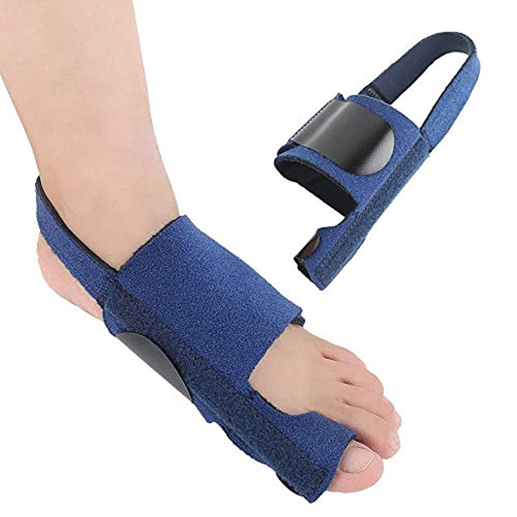 盲目正直偽外反母ortho装具、装具アーチサポートゲル大足矯正スプリント、夜間および昼間の扁平足の痛みの緩和の男性と女性,Left Foot