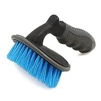 uxcell カーホイールブラシ ホイールタイヤリムブラシ プラスチック ナイロンブラシツール ブルー