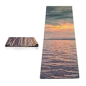 Yoga Design Lab (ヨガデザインラボ) ヨガマット 厚さ1mm トラベルマット 折りたたみ ストラップ付 (Sunset)