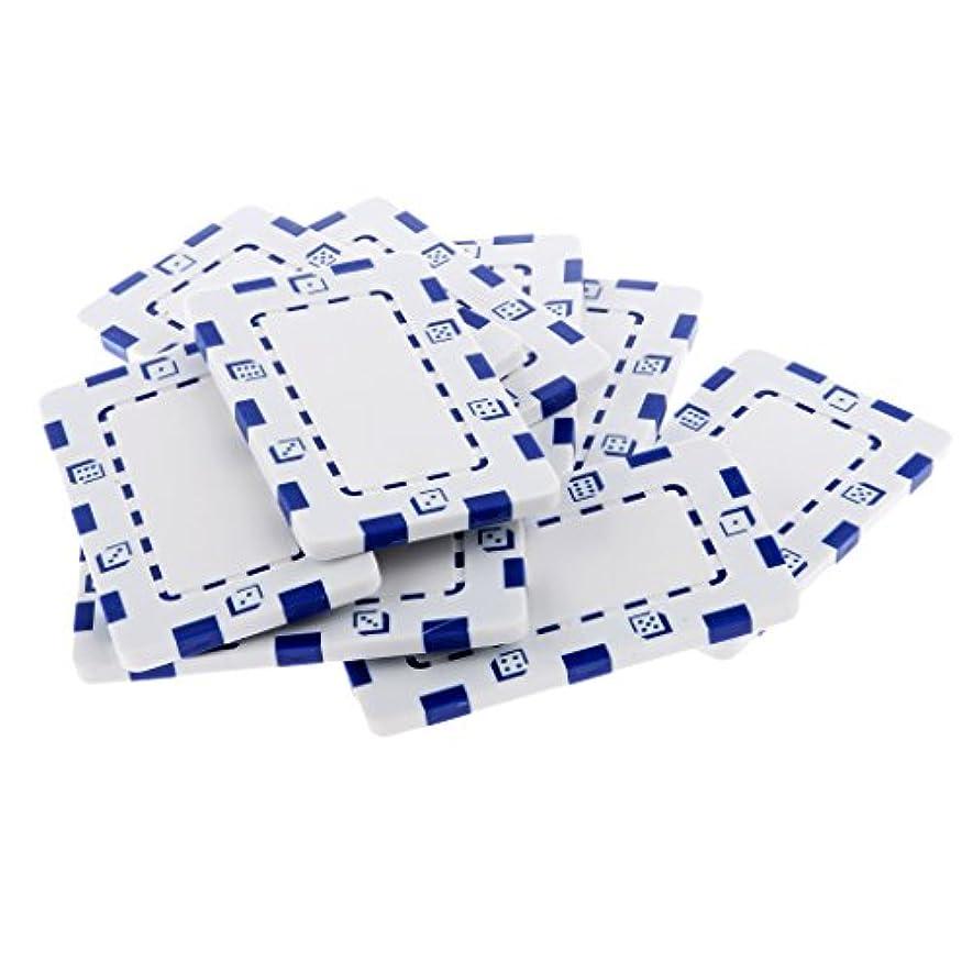 意図ラグ状態マージャン&テキサスポーカー チップ 長方形 セラミック ゲーム コレクション 10個入り 全10色 - 白