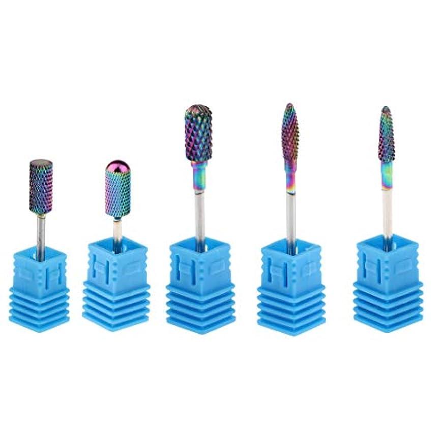 部屋を掃除するマートファンドPerfeclan 陶磁器ドリルビットネイルドリルビット 研削ネイル 切削工具 ドリルビット ネイルアートファイル5個入