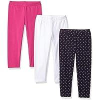 Amazon Essentials Girls' 3-Pack Capri Legging