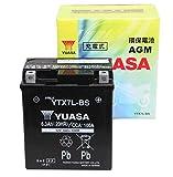 【Amazon.co.jp限定】 TAIWAN YUASA 【台湾ユアサ】正規品 AGM-バイク用バッテリー クロス付 YTX7L-BS