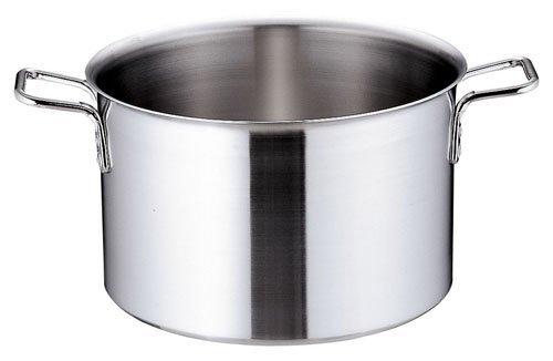 遠藤商事 業務用 トリノ 半寸胴鍋 21cm 電磁調理器対応鍋 アルミクラッド3層鋼 日本製 AHV9901